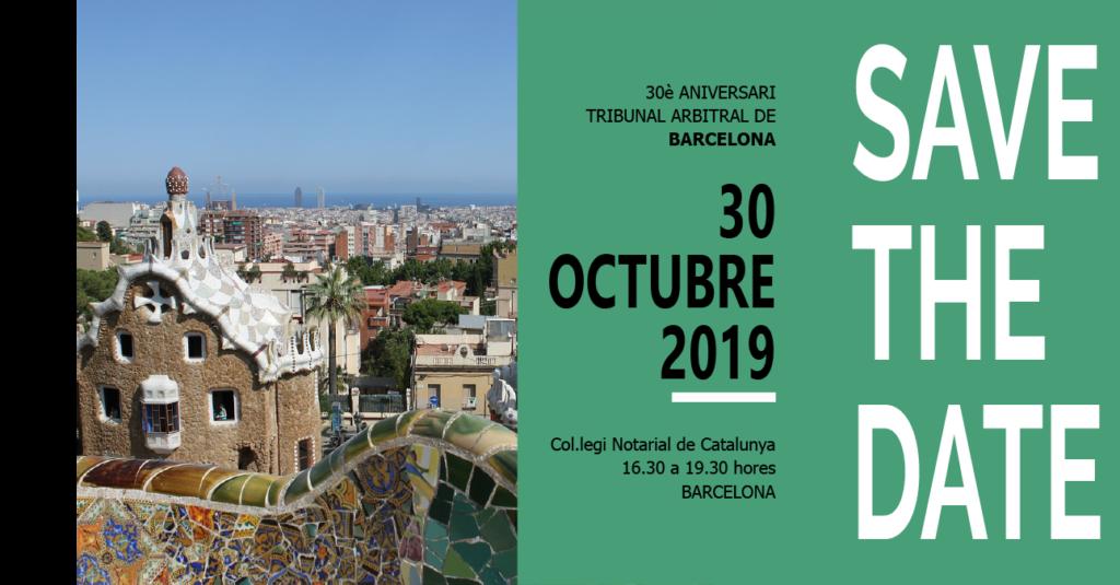 Invitació a la celebració del 30 aniversari del TAB octubre 2019