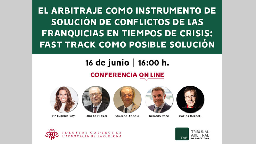 Conferencia on-line en ICAB del Fast Track